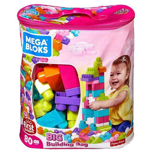 Mega Bloks美高積木80片積木袋(粉)