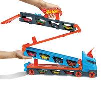 Hotwheels風火輪摺疊賽道收納卡車(附3台車)