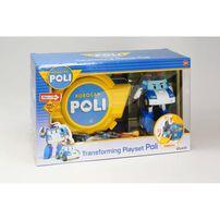 Robocar Poli波力救援小英雄 LED變形手提基地系列-波力