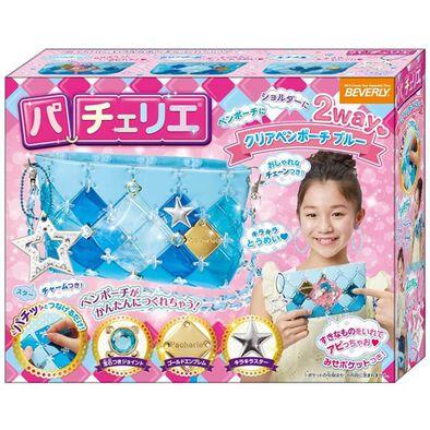 Pacherie時尚巧拼包 果凍感透明筆袋(水藍)