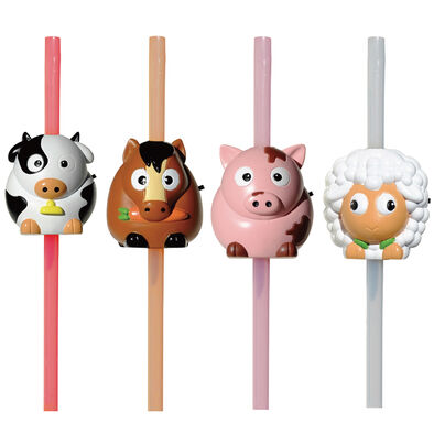 Grab & Go 動物造型音效吸管 - 隨機發貨