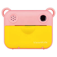 VisionKids 2021高階型High End MODELInstant Camu Mini1200萬象素兒童拍立得相機 粉紅(送相紙價值$329)