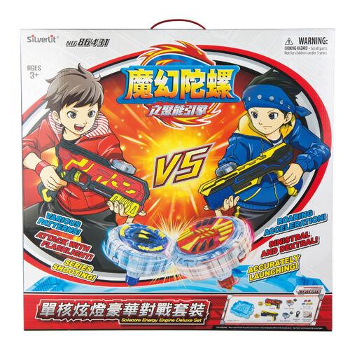 Spin Fighter魔幻陀螺 聚能引擎-單核炫燈豪華對戰組