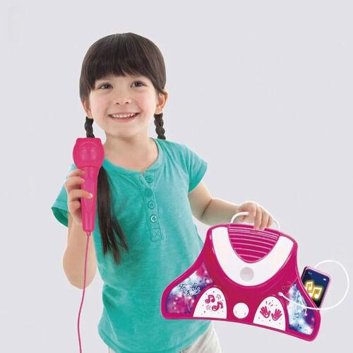 Runaland路納星球MP3時尚搖滾站立式麥克風-桃紅
