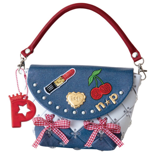 Pacherie時尚巧拼包 俏皮丹寧手提包