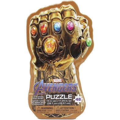 Marvel Avengers復仇者聯盟無限手套鐵盒拼圖