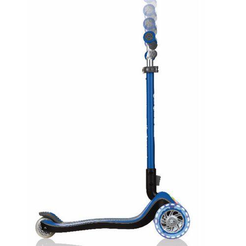 Globber高樂寶 兒童三輪滑板車-閃光升級款-藍(可乘重50kg)
