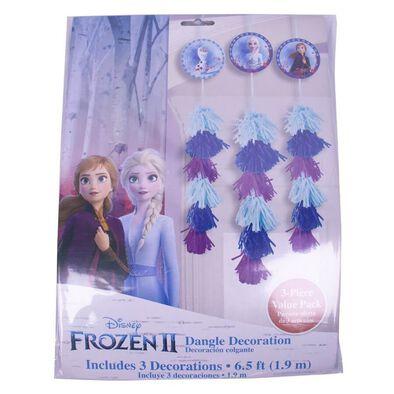 Disney Frozen迪士尼冰雪奇緣派對用品 Party Time 掛飾3入