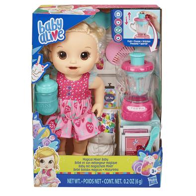 Baby Alive淘氣寶貝 神奇料理機娃娃 金髮