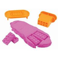 瑞典 Mad Mattr瘋狂博士mm沙 小積木方塊包-粉