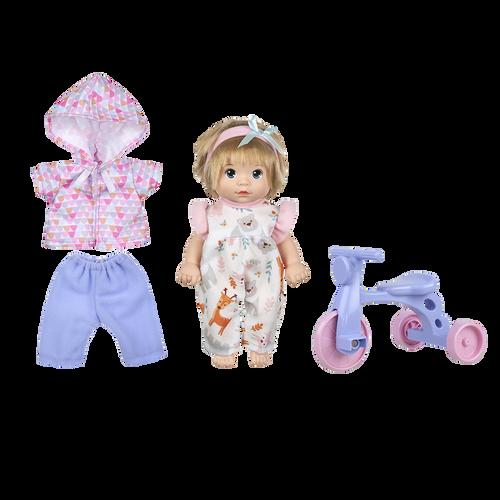 Baby Blush 8吋娃娃玩樂腳踏車組