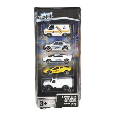 Speed City 極速城市 5入裝合金車(隨機發貨)