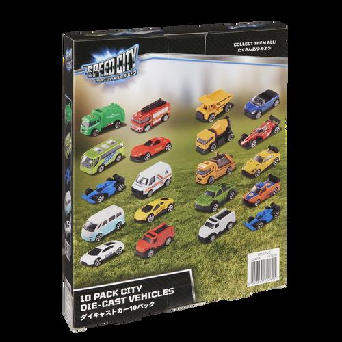 Speed City 極速城市 10入裝合金車