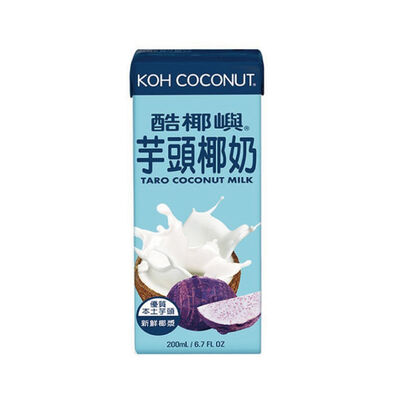 Koh Coconut酷椰嶼 芋頭椰奶 200ml 利樂包