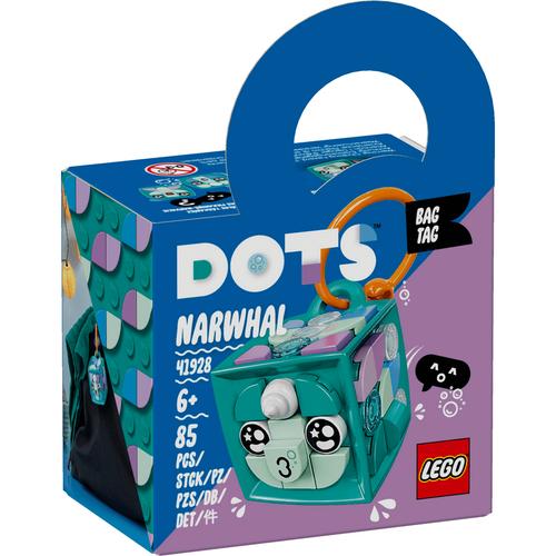 Lego樂高 Dots 41928 行李吊牌-獨角鯨