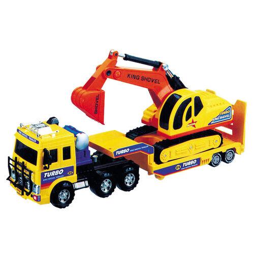 Daesung 挖土機和運輸車組
