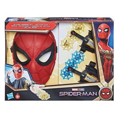 Marvel漫威蜘蛛人3電影鋼鐵蜘蛛人角色扮演面具+發射器