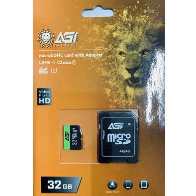 Agi 亞奇雷 Micro SD HC UHS-I 32G 記憶卡 附轉卡