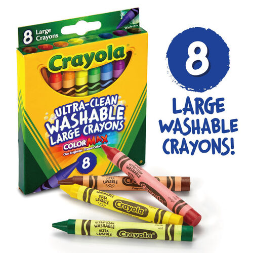 Crayola繪兒樂 可水洗大蠟筆8色
