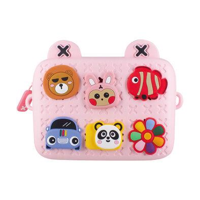 Visionkids限量兒童個性小側包-粉紅色