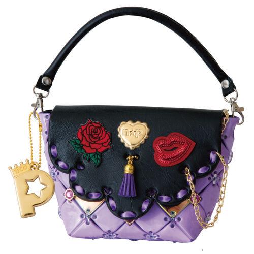 Pacherie時尚巧拼包 奢華靚紫手提包