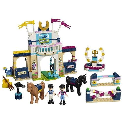 LEGO樂高好朋友系列 41367 斯蒂芬妮的騎馬跳欄賽 積木 玩具