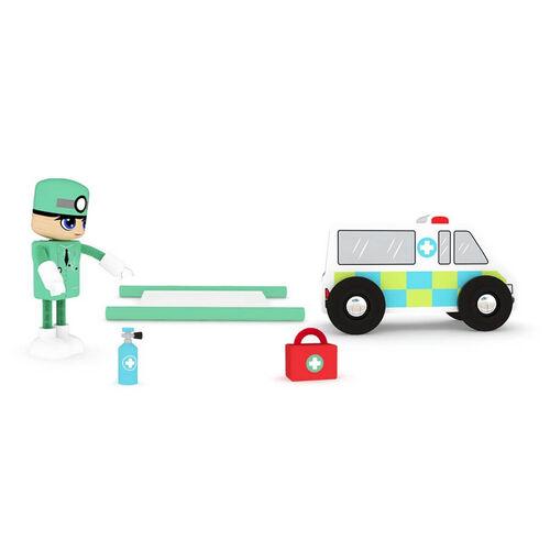 J'adore救護車木玩禮盒組