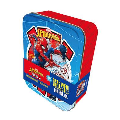 Marvel漫威 蜘蛛人 造型拼圖盒(鐵盒裝)