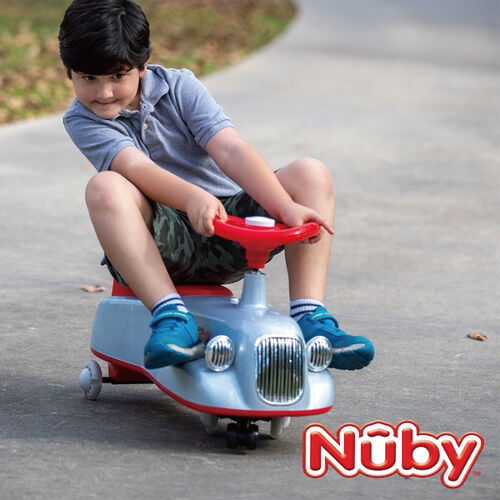 NUBY兒童平衡扭扭車-復古灰