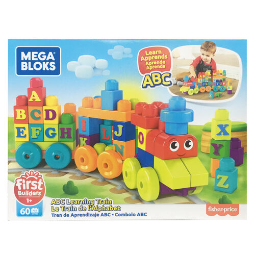 Mega Bloks美高積木60片字母學習火車組