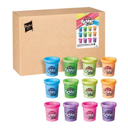 Play-doh培樂多 超級長黏土 12罐組