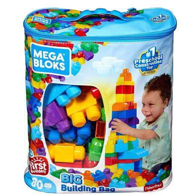 Mega Bloks美高積木80片積木袋(藍)