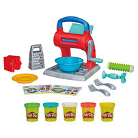 Play-doh培樂多 廚房系列製麵料理機新版+ 八色黏土組 超值組合(隨機發貨)