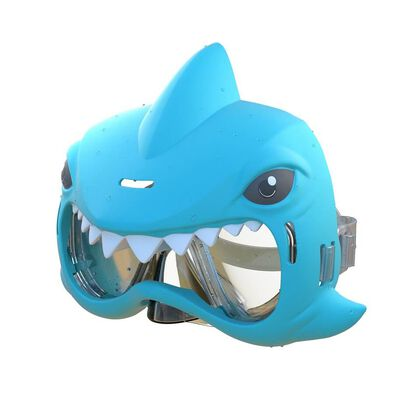 Eolo鯊魚游泳面罩套組-藍