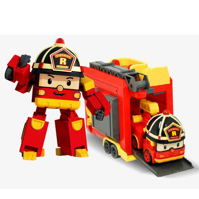Robocar Poli波力救援小英雄 Led變形手提基地系列-羅伊