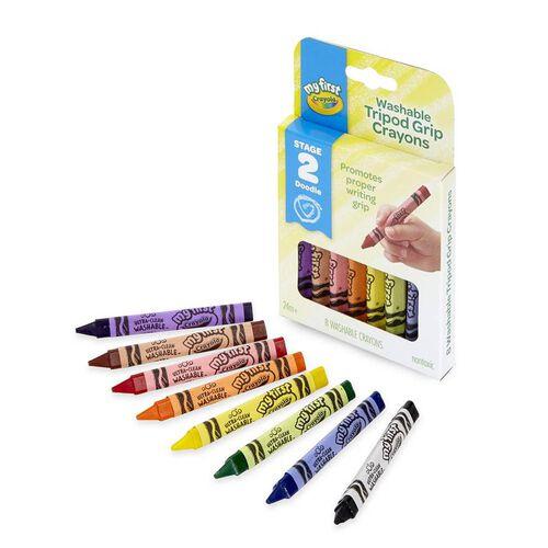 Crayola繪兒樂 8入角型易握蠟筆