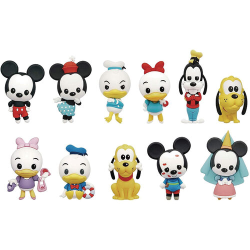 Disney-米奇好朋友3D收藏掛飾 - 隨機發貨