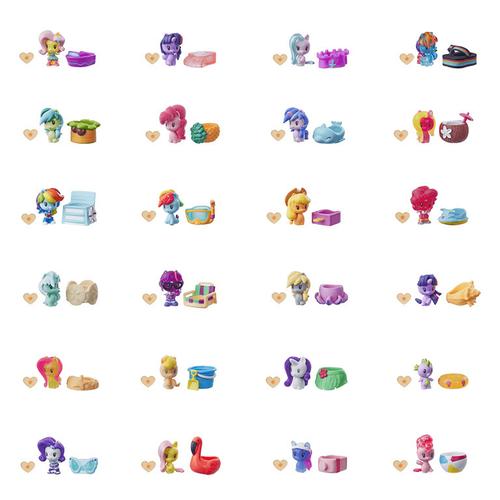 My Little Pony彩虹小馬可愛標記Q版系列 小可愛氣球包 - 隨機發貨