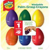 Crayola繪兒樂幼兒可水洗掌握蛋型蠟筆6色