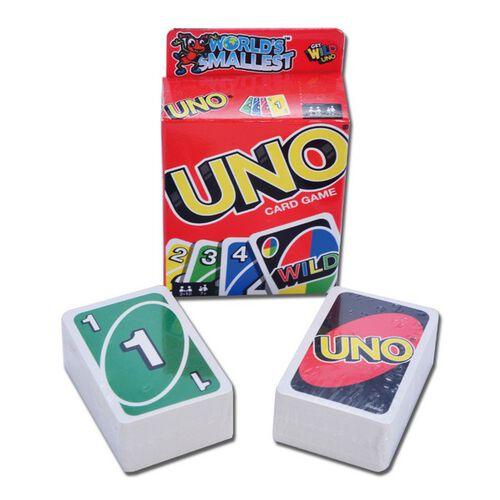 世界上最小的UNO遊戲卡