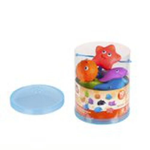 Top Tots天才萌寶 海洋動物洗澡玩具桶裝