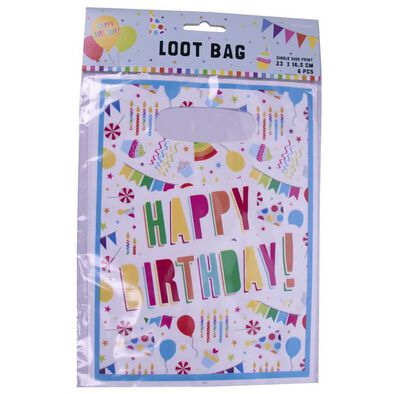 Amscan 生日主題禮物袋6入