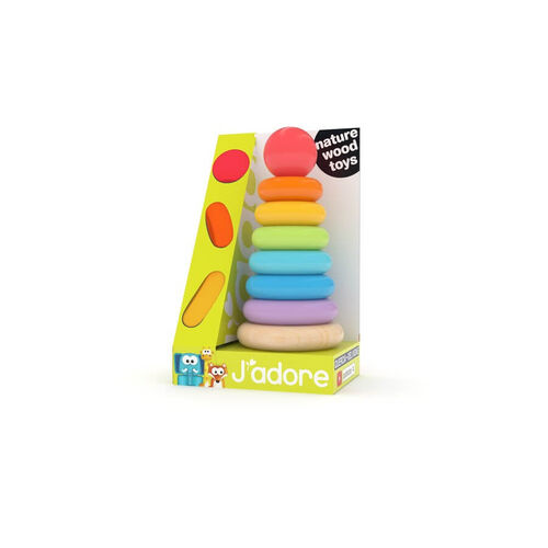 J'adore木製彩虹圈疊疊樂
