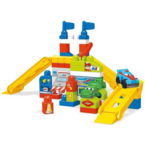 Mega Bloks美高積木賽車場車庫組