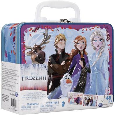 Disney Frozen迪士尼冰雪奇緣2:3D手提鐵盒拼圖