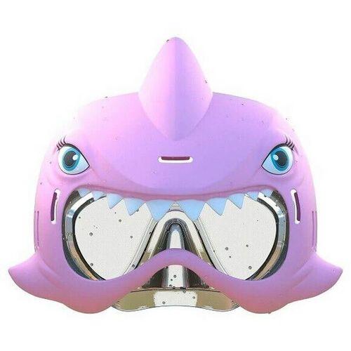Eolo鯊魚游泳面罩套組-粉紅