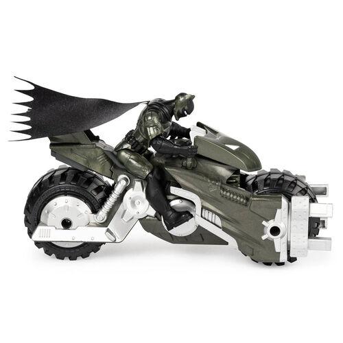 Batman-4吋蝙蝠俠可動人偶與摩托車