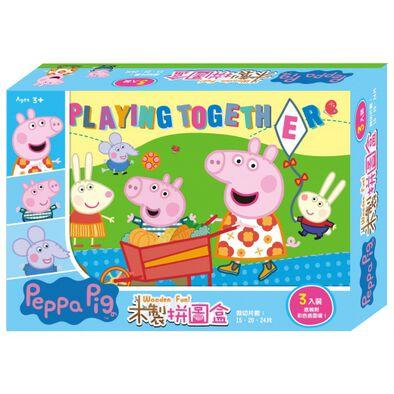 Peppa Pig 粉紅豬小妹 木製拼圖盒