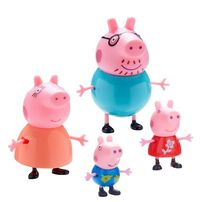 Peppa Pig粉紅豬小妹 溫馨家庭公仔4入