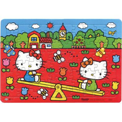 Hello Kitty凱蒂貓 玩翹翹板(80片拼圖)